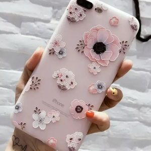 Accessories - NEW Silicone Floral Case iPhone 6 6s 7 8 PLUS 10